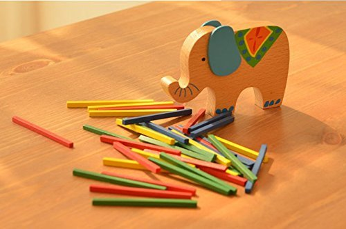 URToys Beech Wood Balance Game Blocks Baby Toys Educational Elephant Camel Balancing Blocks Wooden Toy Gift For Children