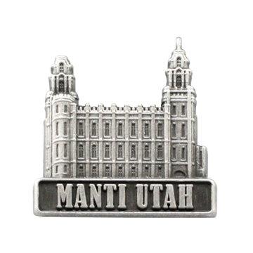 Tie Pin for Boys Ringmasters RM-TTT203 LDS Mens Manti Utah Temple Silver Steel Tie Tac