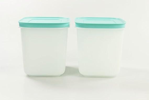 Tupperware Recipiente de cristal de hielo congelador (1,1 L (2) de ...