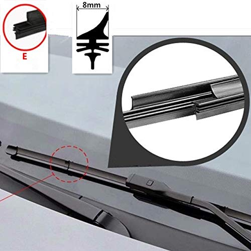 Wipers car Windscreen Wipers Blade(Refill) for HYUNDA Elantra GT Coupe Azera Accent Genesis Coupe Equus car Accessories - (Item Length: 16 inch 400mm, Color: E Dovetail Snap ring)