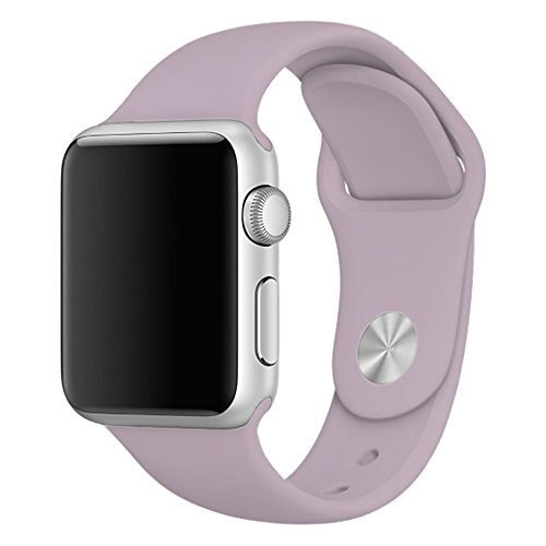 Zyra Sport Band for Apple Watch 38mm S/M, Soft Silicone Strap Replacement iWatch Bands for Apple Watch Sport, Series 3, Series 2, Series 1 Lavender