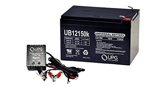 Universal Power Group 12V 15AH Replaces Battery Enduring CBE15-12, CBE 15-12 + 12V 1Amp Charger