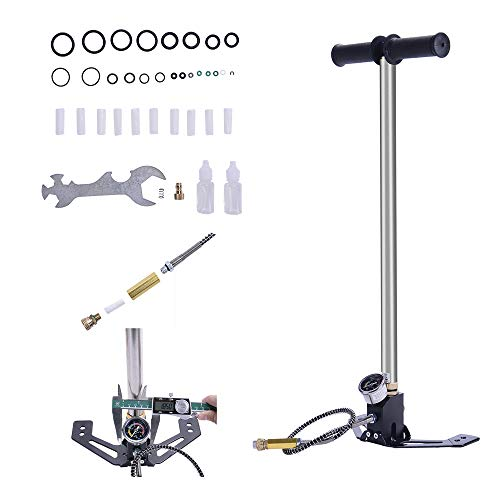 BI-DTOOL Airgun PCP Pump 4500psi High Pressure Hand Pump 3 Stage Air Rifle Pistol Charging for High Pressure Tires and Pre-Charged Pneumatic Airguns