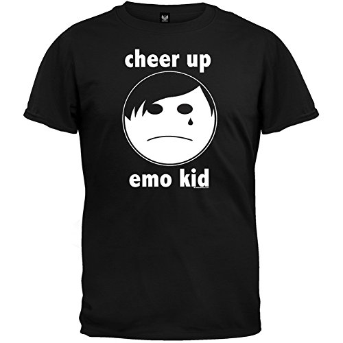 Old Glory - Mens Cheer Up Emo Kid T-shirt Small Black