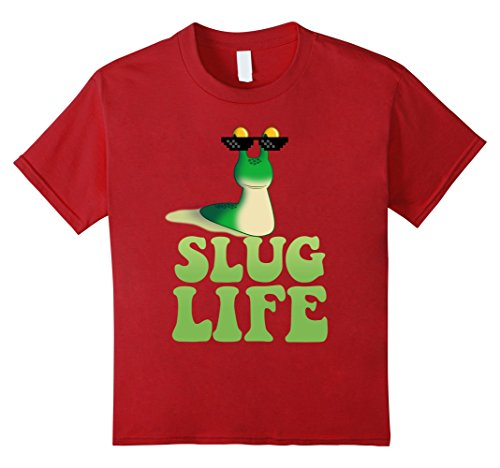 kids-slug-life-t-shirt-funny-thug-life-snail-internet-humor-tee-10-cranberry