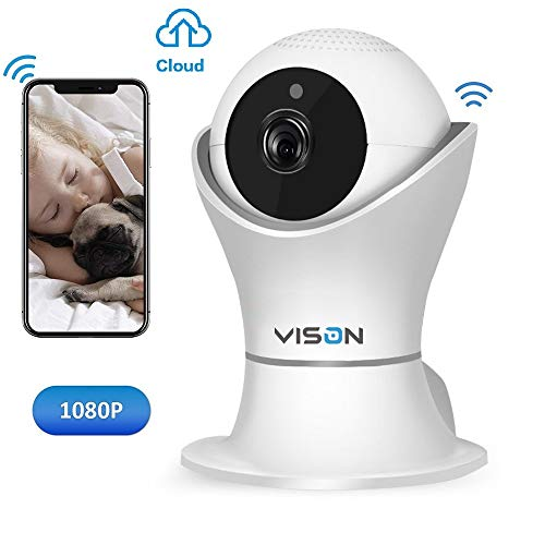 VINSION 1080p Wireless WiFi IP Camera with 3D Navigation Panorama, Home Security Surveillance Video Camera for Baby/Elder/Pet/Nanny Monitor with Night Vision and Two Way - Video Chat Pet