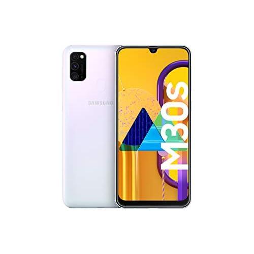 chollos oferta descuentos barato Samsung Galaxy M30s Smartphone Dual SIM pantalla 16 21 cm sAMOLED FHD camara 48MP 4 GB RAM 64 GB ROM bateria 6000 mAH Android Versión española Exclusivo Amazon Blanco