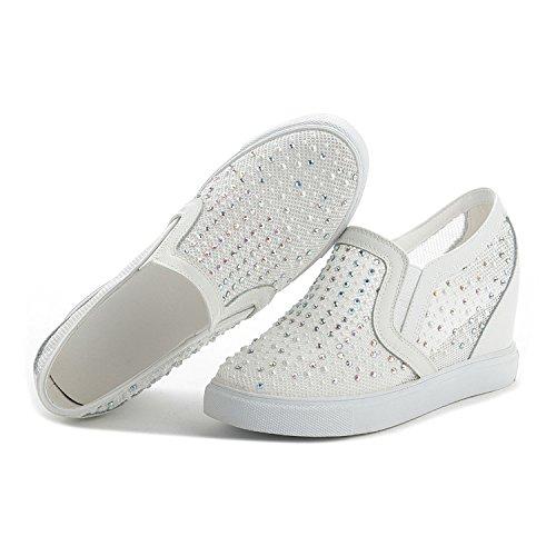 Malla De Aumento Deportes Nuevo Verano Sandalias De Diamantes Zapatos YXLONG Ocasionales Zapatos Modelos whitenet De De Los Explosión Mujeres Cuero De Imitación De De 7xzwSYqB