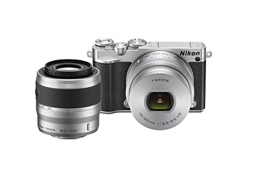 Nikon 1 J5 Mirrorless Digital Camera w/ 10-30mm PD-ZOOM Lens & 30-110mm Lens (Silver) by Nikon
