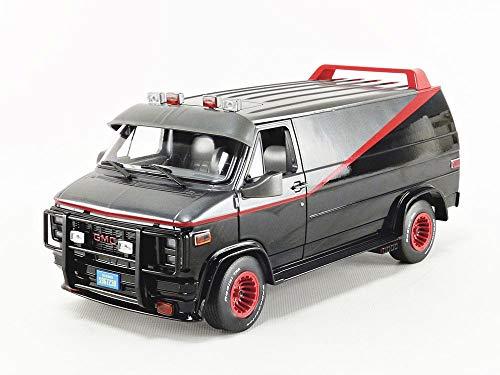 Greenlight 1/18 Hollywood The A-Team 1983-87 TV Series 1983 GMC Vandura Diecast Model Car #13521