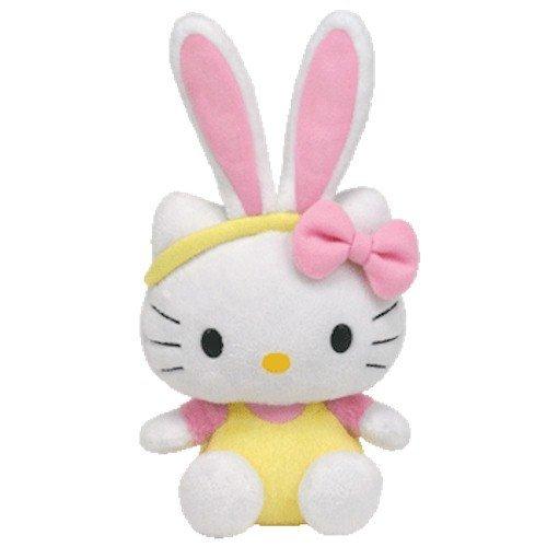 [Ty Beanie Baby Hello Kitty - Yellow Jumper with Bunny Ears] (Hello Kitty Ears)