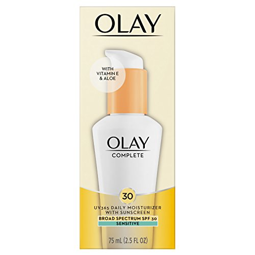 Face Moisturizer by Olay, Complete All Day Moisturizer with Broad Spectrum SPF 30 - Sensitive, 2.5 Fl Oz (Best Spf 30 Moisturizer For Sensitive Skin)