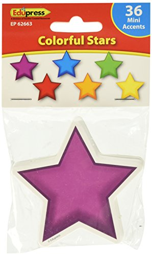 Stars Mini Accents - Edupress Colorful Stars Mini Accents (EP62663)