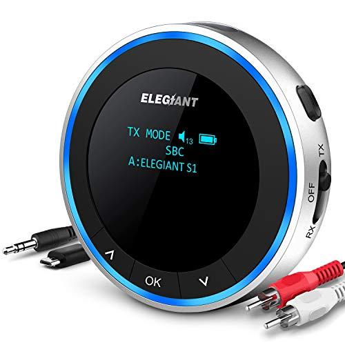 🥇 ELEGIANT Transmisor Bluetooth 5.0 para TV