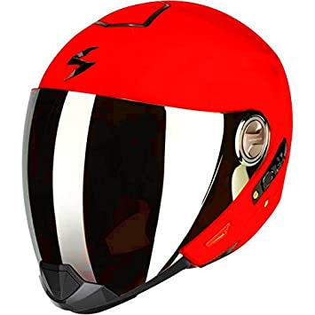 6a69c877 Scorpion on road helmet Exo 300 Air - Solid - Neon Red: Amazon.co.uk: Car &  Motorbike