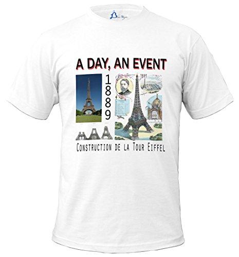 Shirt Construction Day De Gamme Française An Naja Blue Marque Tee Event Tour A La Eiffel axtqE1w