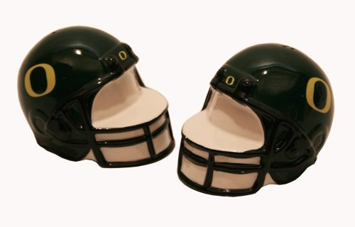 (Out of the Woods of Oregon Collegiate Football Helmet Salt and Pepper Set, University of Oregon)