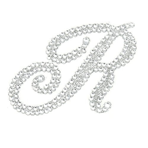 Rhinestone Alphabet Monogram Stickers Letter Initial Wedding Favor Invitation(Letter R)