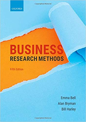Business Research Methods, 5th Edition [Emma Bell]