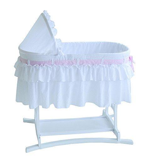 Baby Bassinets Furniture White Nursery Newborn Sleeper Bed by Asstd National Brand by Asstd National Brand