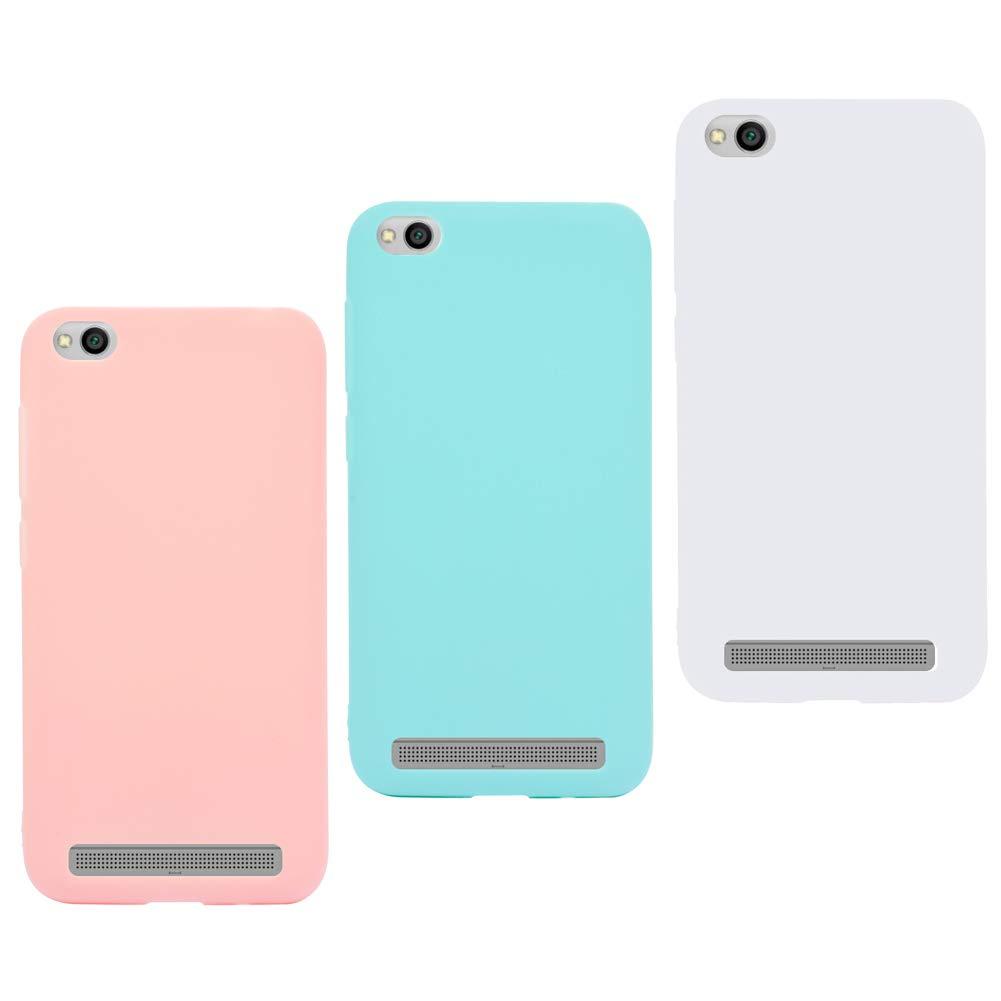 3X Funda Xiaomi Redmi 4A Silicona Carcasa Suave Flexible TPU Gel CoverTp Ultra Fina Delgado Case Cubierta Protectora Caja para Xiaomi Redmi 4A Rosa ...