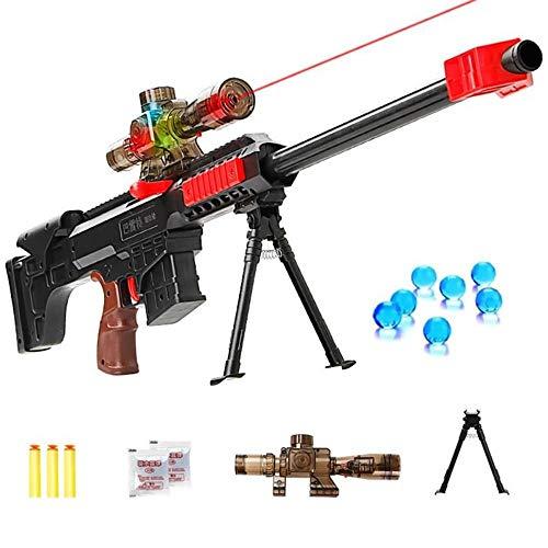 TD ikinari Infrared Gun Toy for Boys Plastic Sniper Rifle Pistol Crystal Water Bullet Soft Bullet Gun Outdoor Toys Play CS Games ()