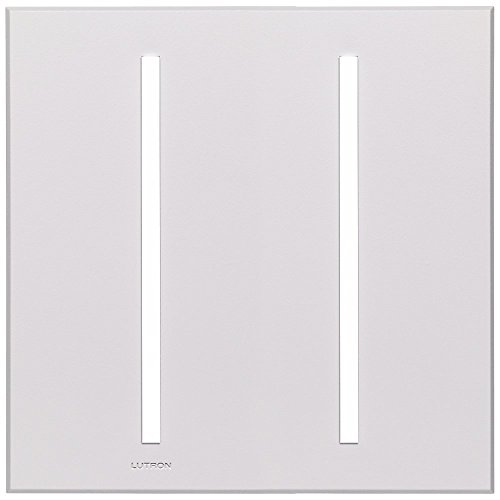 Accessory Vierti (Lutron VTW-2-WH 2-Gang Vierti Wall Plate - White)