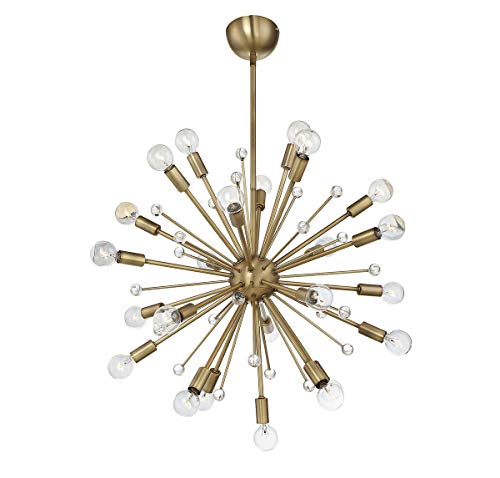 Twenty Four Light Chandelier - Savoy House Galea 24 Light Chandelier 7-6099-24-322, Sputnik Warm Brass
