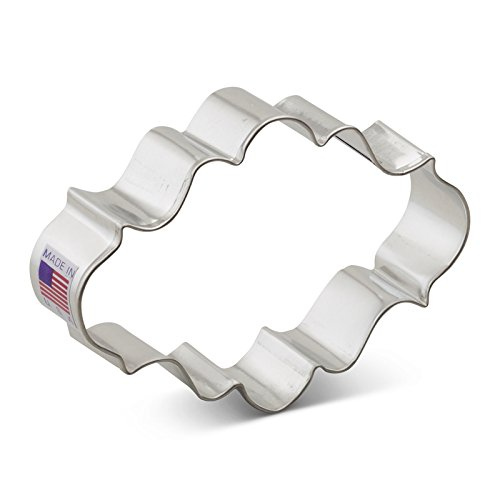 - Ann Clark Oval Plaque Cookie Cutter - 4 Inches - Tin Plated Steel