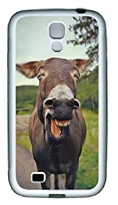 Funny Smiling Donkey Custom TPU Rubber Case Cover for Samsung Galaxy S4 / SIV / I9500 White