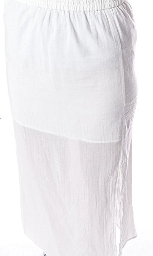 Vero Moda Mujeres Falda Venke Long Maxi blanco