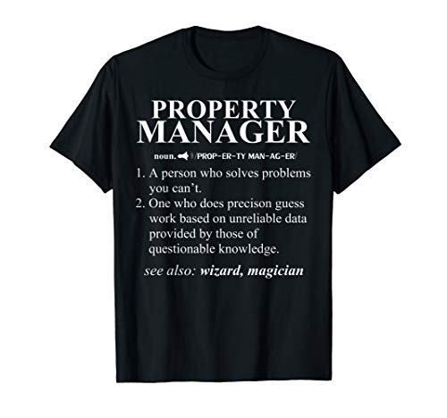 Funny Noun Property Manager Definition T-Shirt Cool Gift T-Shirt -