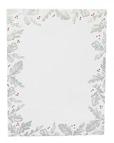 Gartner Studios Silver Leaf Foil Holiday Stationery Paper, 40 count ()