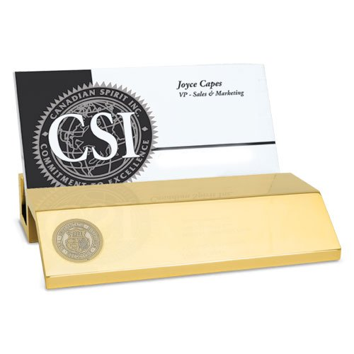 Missouri Tigers Business Card Holder - CSI Cannon Sports Missouri Tigers Gold Business Card Holder