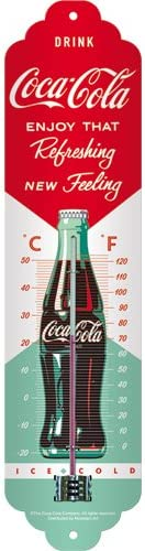 Thermomètre vintage Coca Cola avec degrés et Farhenheit
