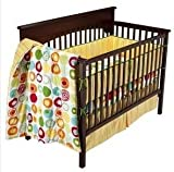 4 Piece Crib Bedding Summersault Geo Numbers