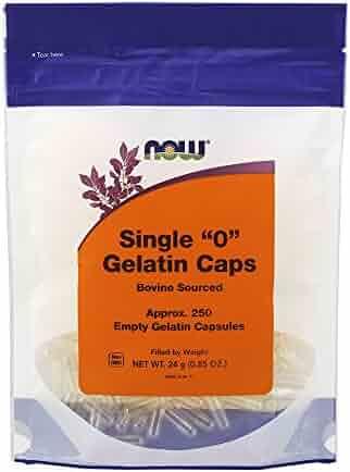 NOW Empty Capsules,250 Gel Caps
