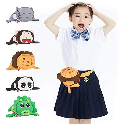 - Kids Travel Waist Bag, Termichy Cute 3D Cartoon Animal Lion HipSack Fanny Pack Purse Sling Bag For Babies Girls Toddler Children Sport Running Camping Trip Parent-child Dressing(Lion)