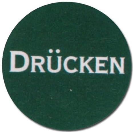 Cartel verde redondo - presión - puerta de entrada salida ...