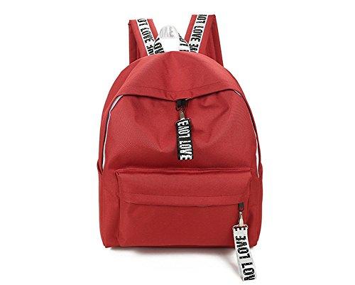 A&N - Bolso mochila  de Material Sintético para mujer Large Red