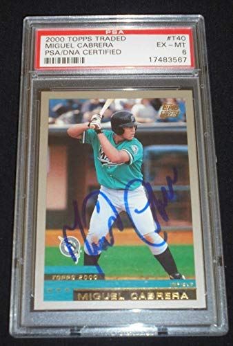2000 Topps Traded Miguel Cabrera Autographed Signed Rookie Card Autograph Rc Auto Psa/Dna 6 ()