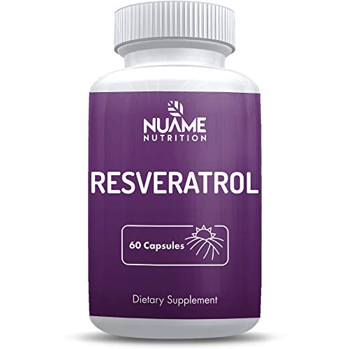 Resveratrol Supplement Capsules 600mg: All Natural, Gluten Free, Vegan, Non-GMO, Sugar Free, 60 Day Supply