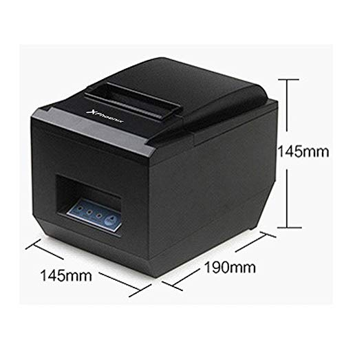 PHOENIX TECHNOLOGIES Stampante di scontrini termici diretti Professionali 300 mm//sec 80 mm con USB Ethernet RS-232 Taglio automatico e manuale per Windows PC ESC//POS//Receipt nero