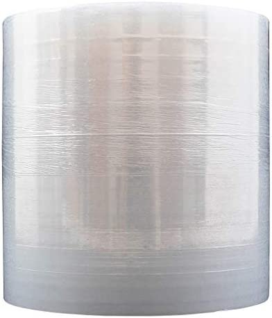"Case Set 12 Rolls 5"" x 1000' Clear Stretch Film Shrink Wrap 80 Gauge w/ 1 Handle for Office Warehouse Shipping Storage Retail Home"