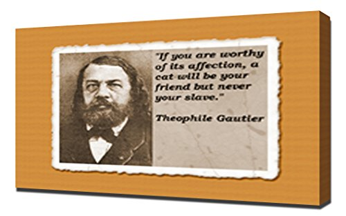 Theophile Gautier Quotes 4 - Canvas Art Print