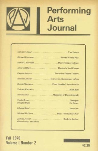 Performing Arts Journal: Fall 1976 (Volume 1, Number 2)