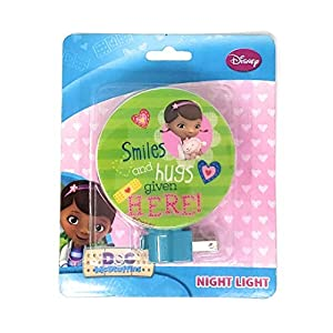 Disney Doc McStuffins Night Light, Smiles and Hugs Given Here