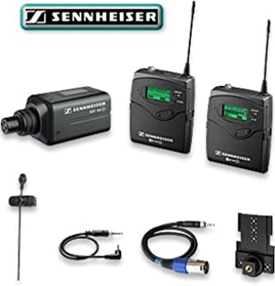 Sennheiser EW 100-ENG G2 Wireless Lavalier Microphone System, with BodyPack Transmitter,Plug-on Transmitter, Camera Receiver Included (B0007IOYF2) | Amazon price tracker / tracking, Amazon price history charts, Amazon price watches, Amazon price drop alerts