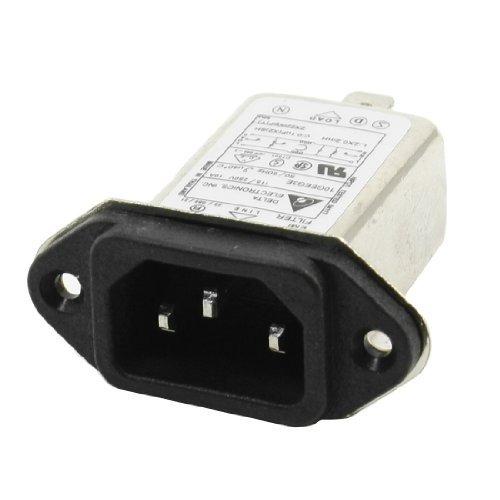 Amazon.com: eDealMax Filtro AC115V / 250V 10A de montaje en Panel 3 Pin Solder IEC 320 C14 EMI: Electronics