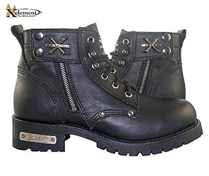 8288cbec7d0 Xelement 1505 Men's Black Advanced Lace Up Motorcycle Boots - Black / 10